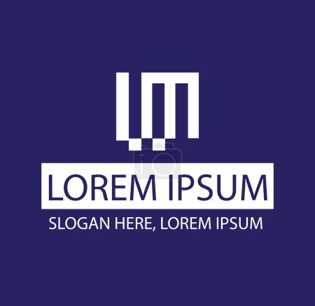 Illustration pour Création de Logo de ml de Concept. Ai 10 pris en charge. - image libre de droit