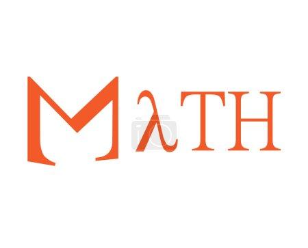 Illustration pour Conception de Math. Ai 8 pris en charge. - image libre de droit