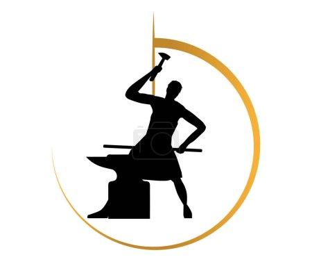 Illustration pour Forgeron Logo Concept Design, Eps 10 pris en charge. - image libre de droit