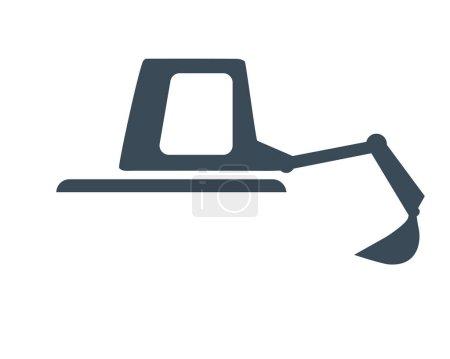 Illustration pour Construction Digger Concept Design, Eps 8 pris en charge. - image libre de droit