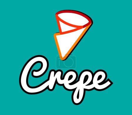 Illustration pour Création de Logo de crêpe, Ai 8 pris en charge. - image libre de droit