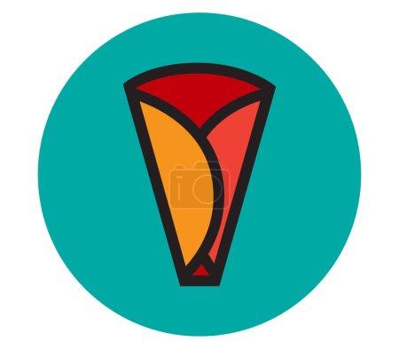 Illustration pour Crêpe icône Design, Ai 8 pris en charge. - image libre de droit