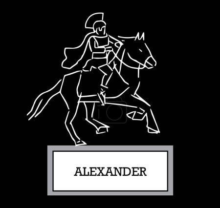 Illustration pour Illustration d'Alexandre, Ai 8 pris en charge. - image libre de droit