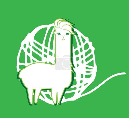 Illustration pour Lama et Lama laine Concept Design. EPS 8 pris en charge. - image libre de droit