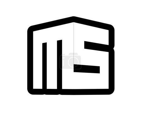 Illustration pour Création de Logo 3D Ms, Ai 10 pris en charge. - image libre de droit