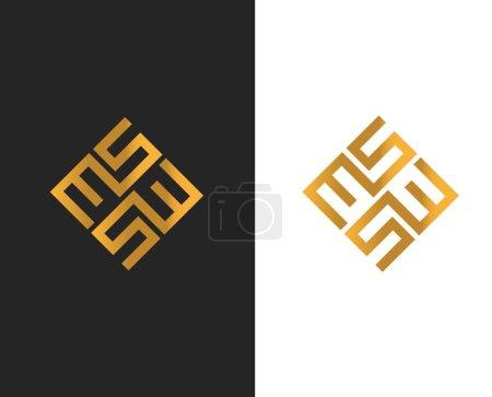 Illustration pour Création de Logo de MS, Ai 10 pris en charge. - image libre de droit