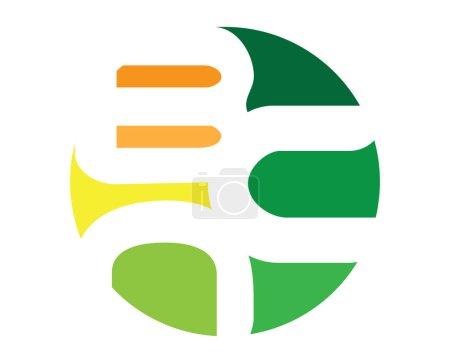 Illustration pour Création de Logo abstrait Bcn, Ai 10 pris en charge. - image libre de droit