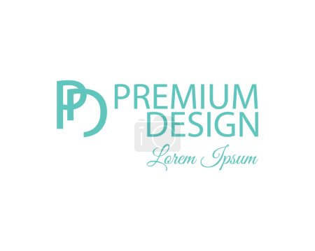 Polygonal Abstract Background and PD Logo