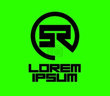 Illustration pour Concept de Design de Logo vert de Sr. EPS 8 pris en charge. - image libre de droit
