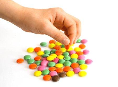 bunte kleine schokolade zucker