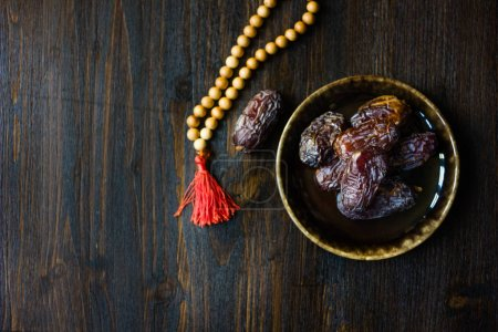 Ramadan dates for iftar opening on plate