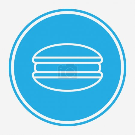 Illustration for Macaron vector icon sign symbol - Royalty Free Image