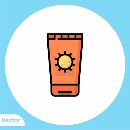 Photo pour Symbole d'icône vectoriel plat crème solaire - image libre de droit