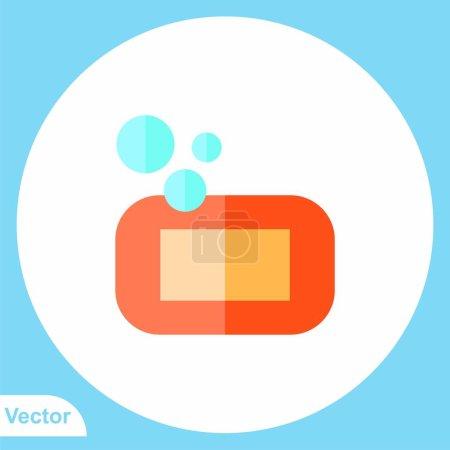 Photo pour Symbole du symbole de l'icône du savon plat - image libre de droit
