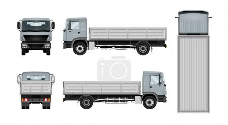 Flatbed truck template