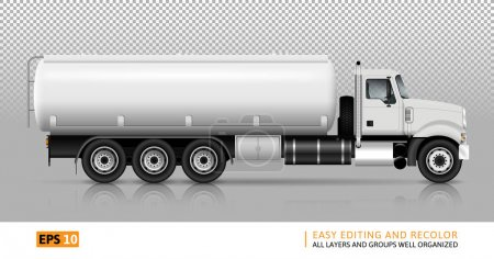 Tanker truck vector illustration