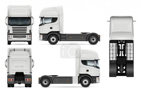 Tractor truck vector illustration