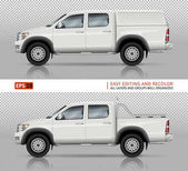 Pickup truck vector mock-up
