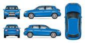Blue SUV car mock up