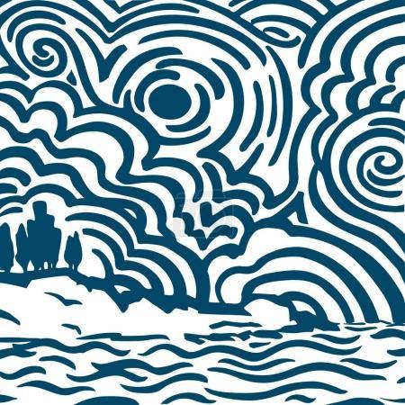 Swirling Sea Shore