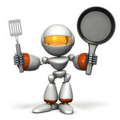 Cute robot to challenge cooking