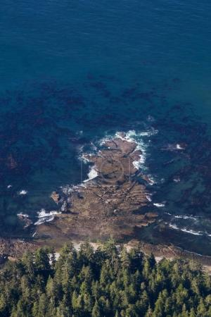 Photo for Beautiful natural aerial view of a scenic landscape at the Ocean Coast - Royalty Free Image
