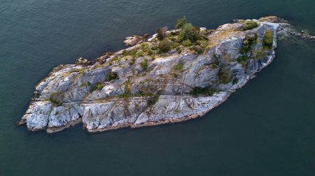 Aerial view of Whytecliff park in Horseshoe Bay, North Vancouver, British Columbia, Canada.