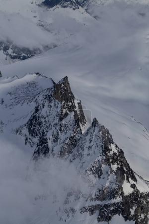 Rocky Mountain Peaks on a remote Glacier in British Columbia, Canada.