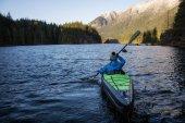 Kayaking in a Lake
