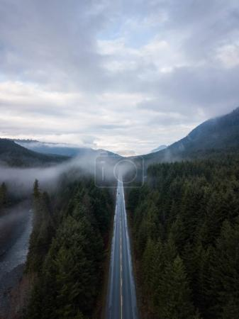 Aerial Drone view of Highway