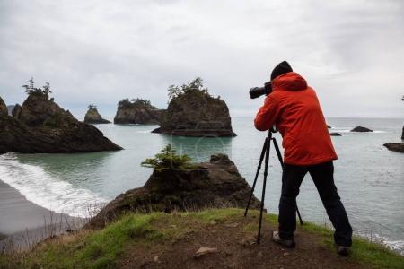 Photographer in Oregon Coast