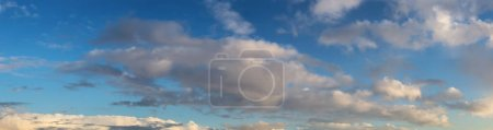 Photo for Beautiful Panoramic View of Cloudscape during a colorful summer sunset. Taken on the West Coast of British Columbia, Canada. - Royalty Free Image