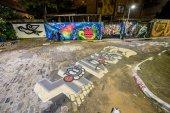 graffiti on walls in neighborhood of Batman Alley