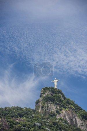 Cristo Redentor (Christ the Redeemer Statue) on top of Morro do Corcovado (Corcovado Mountain) in Rio de Janeiro, Brazil