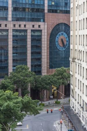 Urban view of buildings on street in Maua Square, Downtown Rio de Janeiro, Brazil