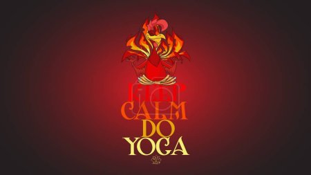 Yoga Fiery red Rooster Wallpaper. Christmas, New Years mascot