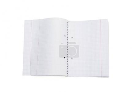 Photo for Mock-up magazine, book or catalog on white table. Blank page or notepad on solid background. Blank page or notepad for mockups or simulations. - Royalty Free Image