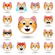 A set of emoticons. Cat. Isolated vector illustrat...