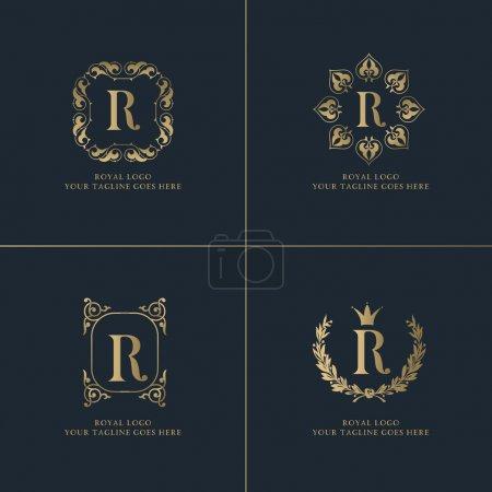 Or R lettre Logos royaux