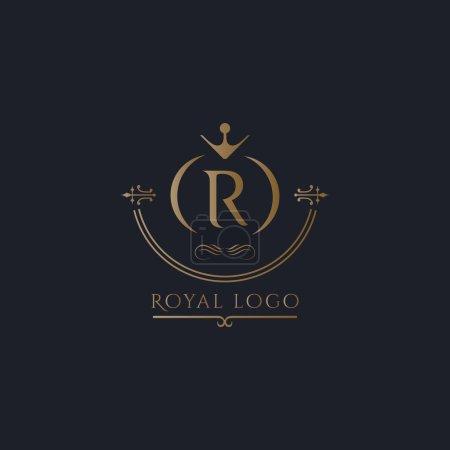 Illustration pour R lettre logo vecteur & Royal Logo vecteur - image libre de droit