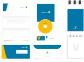 Logo with branding mockup stationery presentation templates vector