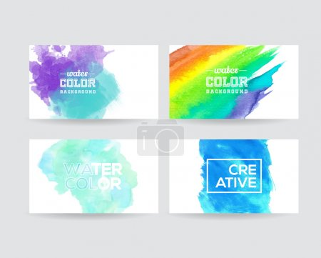 Watercolor texture cards template