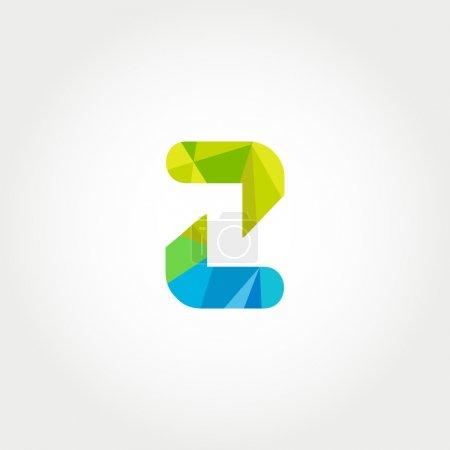 Geometric Z letter logo icon