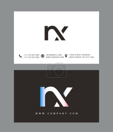 Illustration pour Modèle de conception de logo moderne lettre N et X, illustration vectorielle - image libre de droit