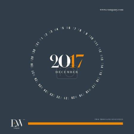 Caledar 2017 template
