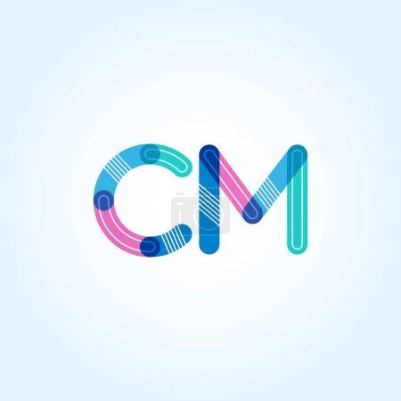 Connected Letters CM Logo