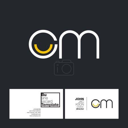 round letter logo Cm