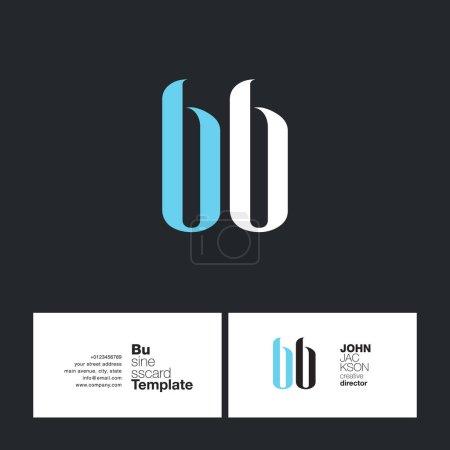 Illustration pour BB Joint Letters Logo avec vecteur de modèle de carte de visite - image libre de droit
