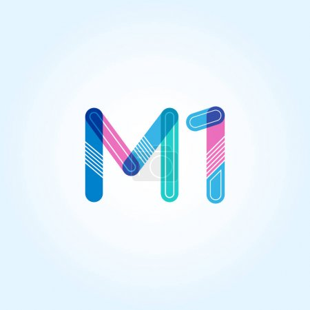 letter and digit M1 logo