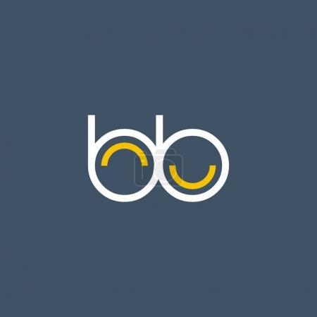 Illustration pour Lettre ronde BB Company Logo, avec modèle de carte de visite Illustration vectorielle, identité d'entreprise - image libre de droit